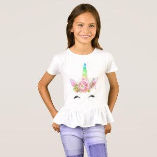 T-shirt de licorne de filles