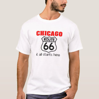 T-shirt de l'itinéraire 66 de Chicago