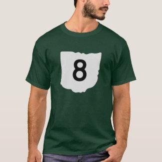 T-shirt de l'itinéraire 8 d'état de l'Ohio