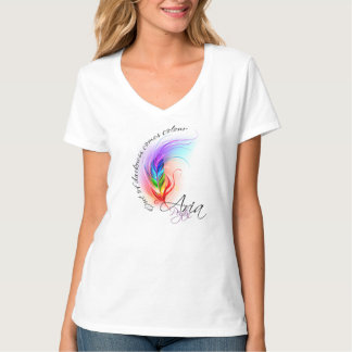 T-shirt de logo d'aria