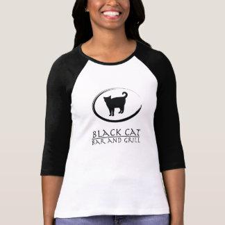 T-shirt de logo de bar et grill de chat noir