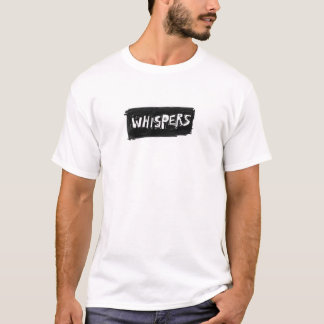 T-shirt de logo de chuchotements