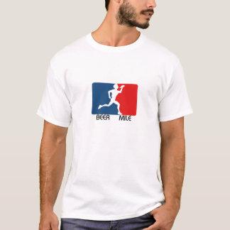 T-shirt de logo de mille de bière