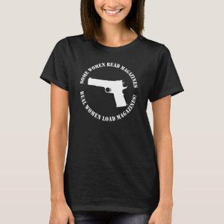 T-shirt de magazines de charge de vraies femmes
