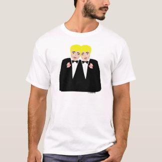 T-shirt de marié de mariage homosexuel