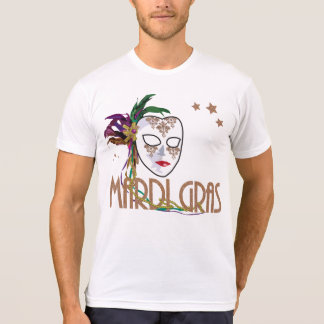 T-shirt de masque du mardi gras 2017 de damassé