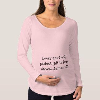 T-Shirt De Maternité Chemise de maternité d'écriture sainte