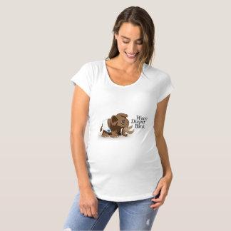 T-shirt de maternité de banque de couche-culotte