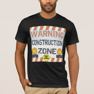 T-shirt de maternité de zone de construction