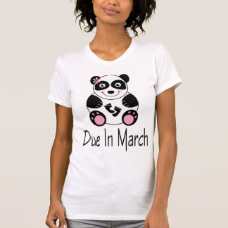 T-shirt de maternité dû de panda en mars