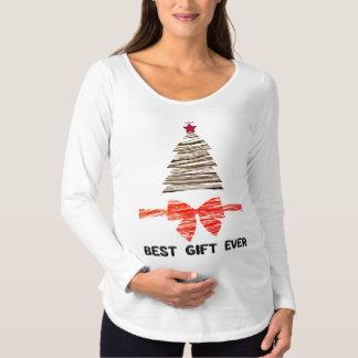 T-Shirt De Maternité Longue douille de meilleur Noël toujours de