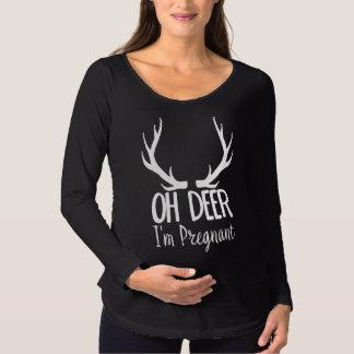 T-Shirt De Maternité Oh les cerfs communs drôles je suis enceinte