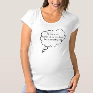 T-Shirt De Maternité Si c'est famille ne venant pas maternité drôle