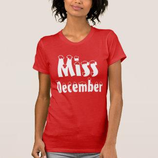 """T-shirt de """"Mlle décembre"""""""
