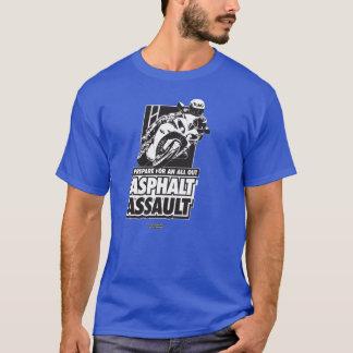T-shirt de moto - assaut d'asphalte