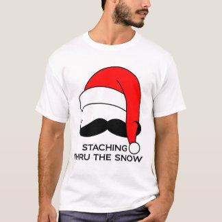 T-shirt de moustache - Staching par la neige