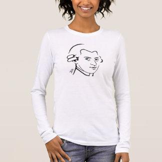 T-shirt de Mozart -- Rose - longue douille - le