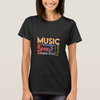 T-shirt de musique toutes sortes de genres de