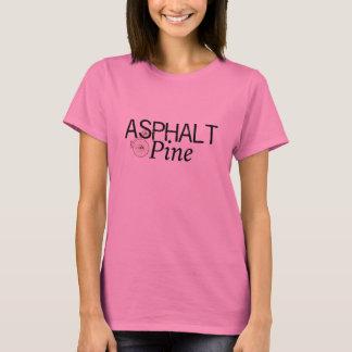 T-shirt de nano de Hanes des femmes d'asphalte et