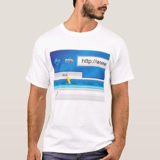 T-shirt de navigateur de page Web