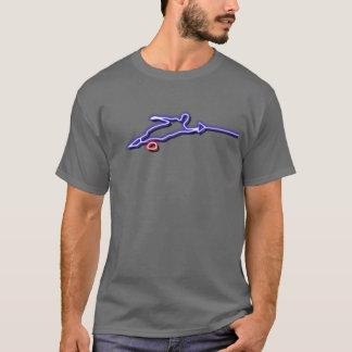 T-shirt de néon de skieur de l'eau de slalom