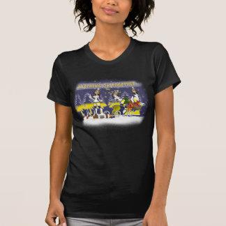 T-shirt de Noël de fan de Leeds, marchant dessus