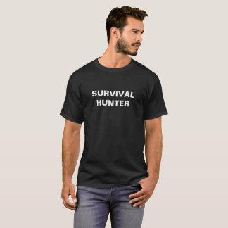 T-shirt de noir de chasseur de survie avec le