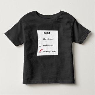 T-shirt de noir d'enfant en bas âge de vote de