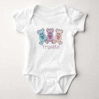 T-shirt de nounours de célébration de triplets