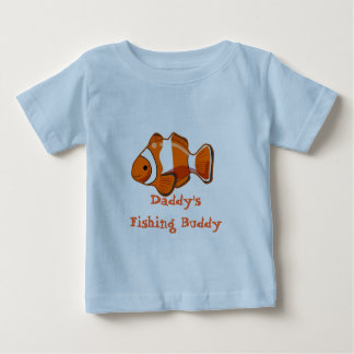 T-shirt de nourrisson d'ami de la pêche du papa