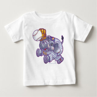 T-shirt de nourrisson d'éléphant de base-ball