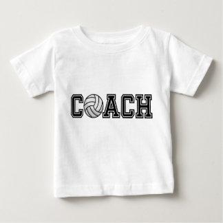 T-shirt de nourrisson d'entraîneur de volleyball