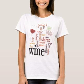T-shirt de nuage de mot de vin
