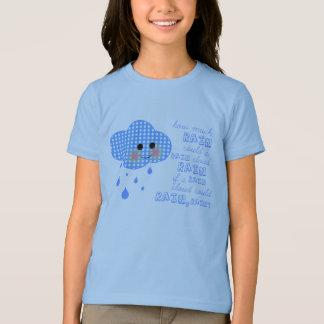 T-shirt de nuage de point de polka avec l'énigme