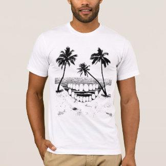 T-shirt de palmier de crâne