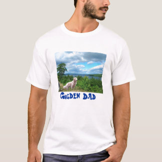 T-shirt de papa de golden retriever