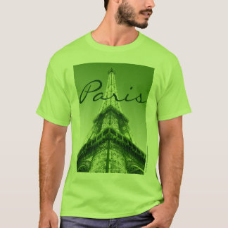 T-shirt de Paris de Tour Eiffel de devenez écolo