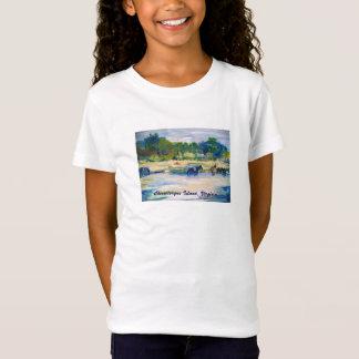 T-shirt de peinture de cheval d'île de