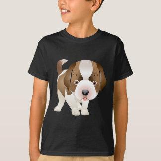 T-shirt de peinture d'image de chiot de St Bernard