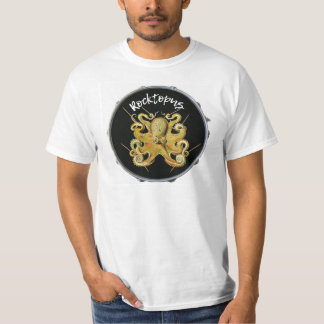 T-shirt de percussion de batteur de Rocktopus