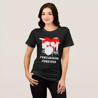 T-shirt De percussion noir personnalisable drôle pour