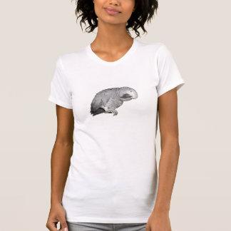 T-shirt de perroquet d'Ollie de gris africain