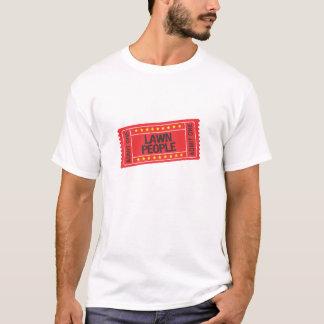 T-shirt de personnes de pelouse