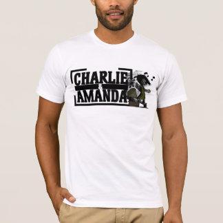 T-shirt de phonographe de Charlie et d'Amanda