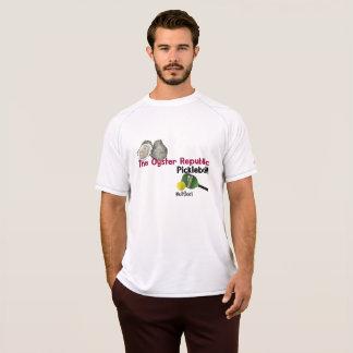 T-shirt de pickleball de république d'huître pour