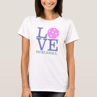 "T-shirt de Pickleball des femmes : ""AMOUR"" (rose)"