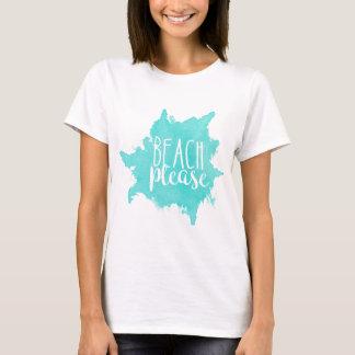 T-shirt De plage blanc svp