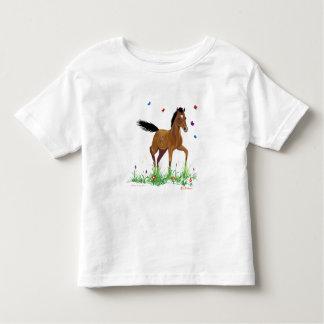 T-shirt de poulain et d'enfant en bas âge de