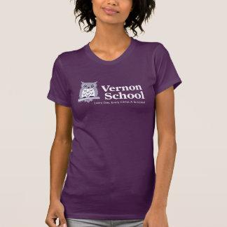 T-shirt de pourpre de dames d'école de Vernon