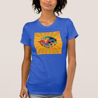 T-shirt de Racerback des femmes - armure de Dieu